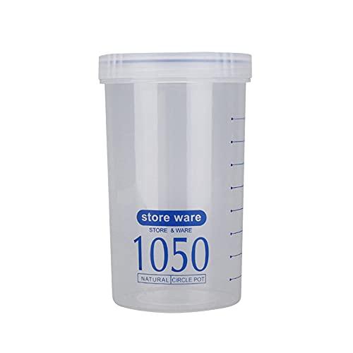 JKKJ - Contenitore per cereali, in plastica senza BPA, cilindrico, ermetico, con interruttore rotante, latte in polvere, cereali, snack, alimenti per animali domestici, alimenti per bambini