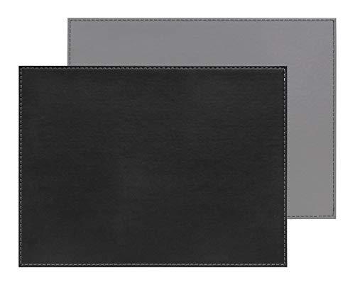 Freeform Duo rechteckig, schwarz/grau Platzset, Kunstleder, One Size
