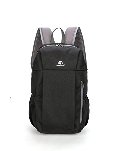 RENZE Waterproof Travelling Bag, 30L Hiking Backpack for Outdoor Sport Camping Travel, BLACK