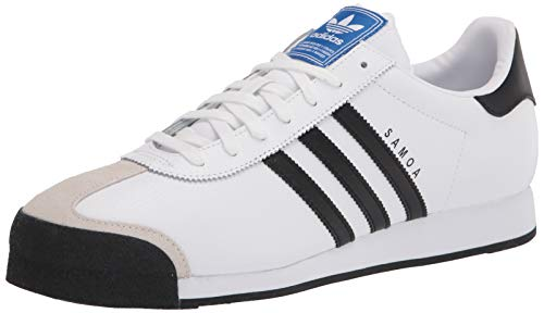 adidas Originals Samoa Retro Sneaker Running Shoe, White/Black, Men