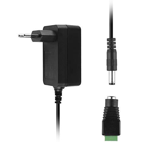 SALCAR 12V 2A 24W Universal Steckernetzteil für 3528, 5050 LED Strip Streifen, Speedport, Lichtleisten, Switch, Router, WLAN Router, DVD Laufwerk 5,5 * 2,5 mm Stecker + LED Streifen angegebener