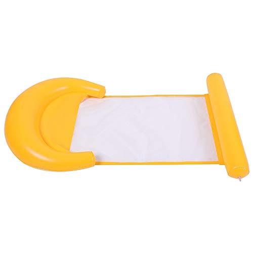 Hamaca de agua, flotador inflable de piscina, reclinable flotante de la playa, hamaca inflable de agua, salón de cama flotante, hamaca multiusos para piscina, silla de PVC, 65 x 125 cm