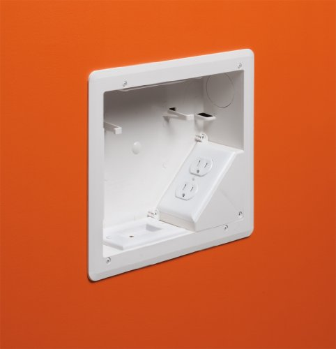 ARLINGTON INDUSTRIES TVB810 2477659 4-Gang Recessed Tv Box for Power and Low Voltage 8 x 10 White