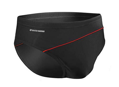 Sesto Senso® Pantaloncini da Bagno Uomo (Dimensioni da M a 4XL) Costume Boxer Calzoncini Swim Shorts BD 413 (3XL, Nero)