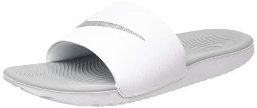 Nike Wmns KAWA Slide, Sandalias Deportivas Mujer, Blanco (White/Metallic Silver 100), 35.5 EU