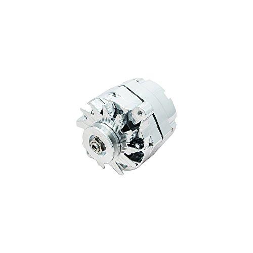 Top Street Performance ES1031C Chrome 110 Amp Alternator with 1 Wire/V-Belt
