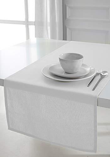Today 257551Camino de Mesa de algodón, 50x 150cm, algodón, Chantilly/Blanc, 50x150 cm