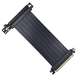 guiseniour Full Speed 3.0 PCIE X16 Riser Cable Graphics Card Extension Cable PCI Express Riser Shielded Extender for GPU Vertical Graphics Card Extension Cable