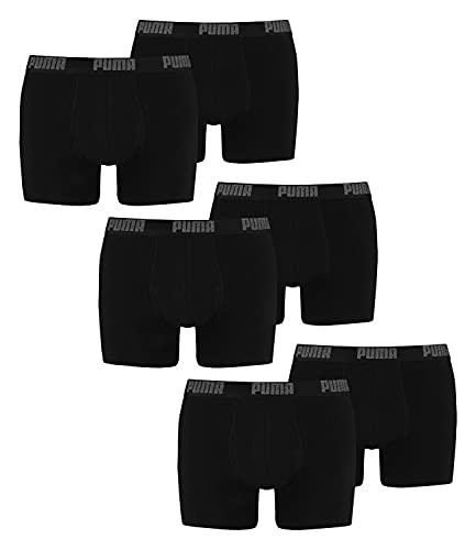 PUMA Herren Boxershorts Unterhosen 521015001 6er Pack (New Black/Black, L)