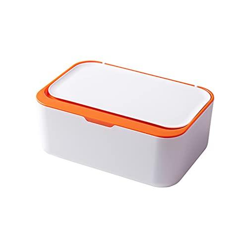 Goutui Caja de pañuelos de escritorio moderna a prueba de polvo fácil de usar toallitas húmedas dispensador titular para oficina en casa con diseño de sellado
