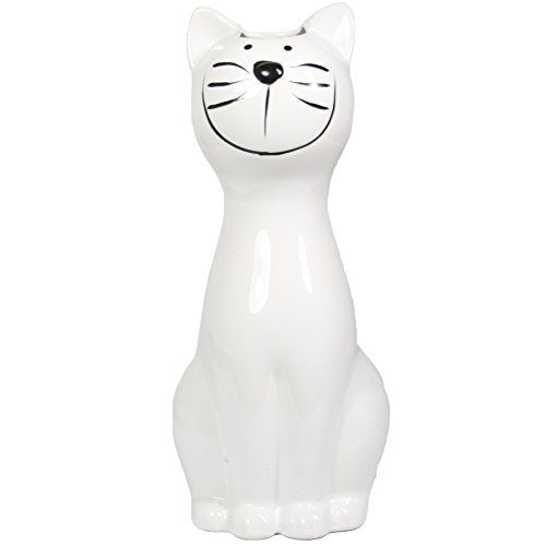 My-goodbuy24 Luftbefeuchter - Katze - für Heizung aus hochwertigem Dolomit Luftreiniger Wasserverdunster Verdamper verdunster Klima in weiß