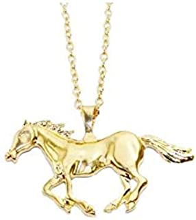 Horse Pendant Necklace for Women Girl Jewelry Gold
