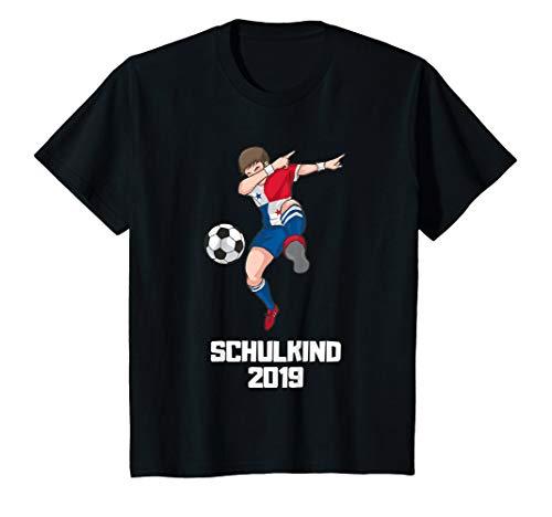 Kinder Schulkind 2019 Fußball Dabbing Fußballer Panama Trikot T-Shirt
