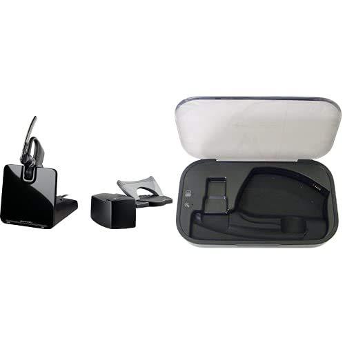 Plantronics Voyager CS/HL1O Kit de Auriculares Bluetooth, Color Negro + Charge Case Caja cargadora para Voyager Legend (indicador LED, microUSB), Negro