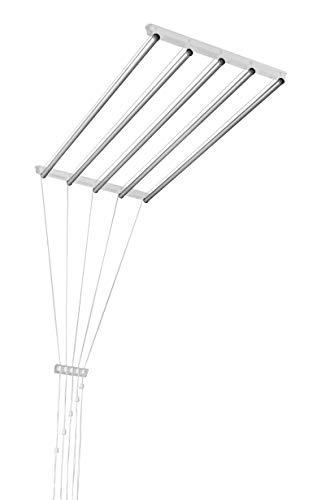 Aluminio. deckentrockner 100cm blanco 5ajustable ropa Barras