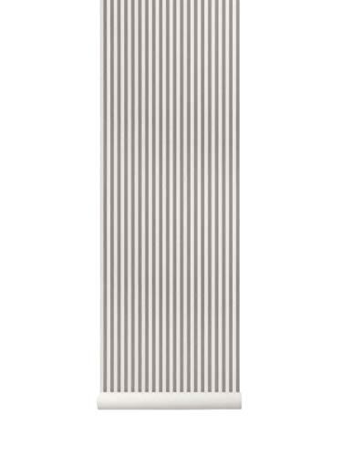 Ferm Living Thin Lines behang, grijs/gebroken wit