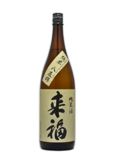 茨城県 来福酒造 来福【らいふく】純米酒 ベコニアの花酵母仕込み 八反錦 1800ml
