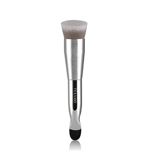 Douceur Visage Mélange Maquillage pinceaux, Portable Professionnel Premium Synthétique Multitâche Poudre Rougir Cache-cernes Produit de beauté Brosse-d'argent