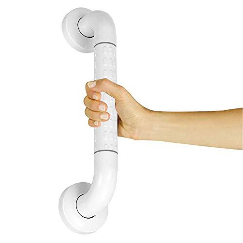 Haltegriff Rutschfest für Bad badezimmer, Senioren Wandhaltegriff Weiß aus Edelstahl & Nylon-Sicherheitsgriffe Griffstange, 40 x 3.5cm