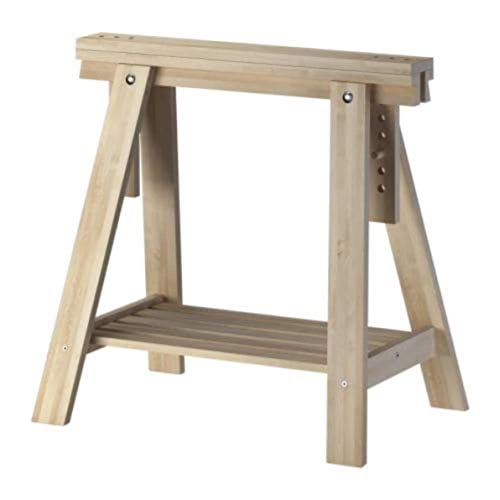 IKEA Finnvard Trestle with Shelf Birch 303.457.17 Size 27 1/2x28/36 5/8""