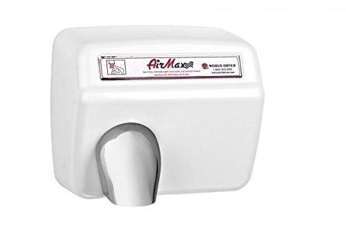 World Dryer DXM5-974 AirMax Secadores de manos de alta velocidad y resistente, automático, 110 – 120 V, acero blan