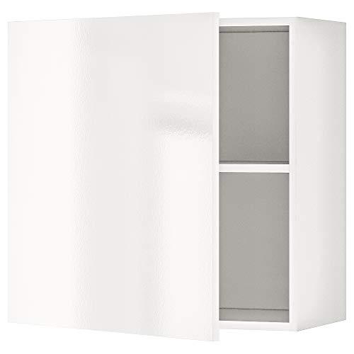 KNOXHULT armario de pared con puerta 60x31x60 cm blanco brillante