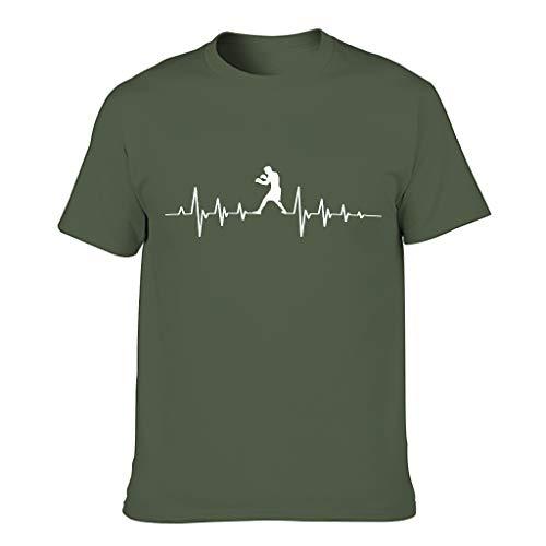 Chicici Fashion Boxeo Corazón Pulse Camisetas para hombres Humor Sarcasm Camisa de manga corta