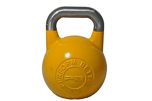 Perform Better First Place Competition Kettlebell, Yellow, 16 kg