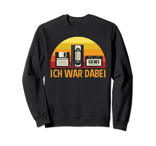 Videokassette Musikkassette Diskette Oldschool Sweatshirt