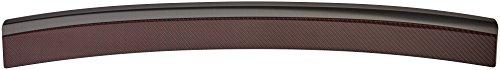 Avisa Protection de seuil arrière inox 'Deluxe' compatible avec Volkswagen Golf VII HB 3/5-portes 2012- Noir/Carboné noir-rouge