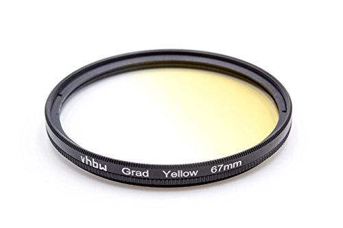 vhbw Filtro universale a gradiente di colore 67mm Giallo per Zeiss Batis 1.8/85 mm