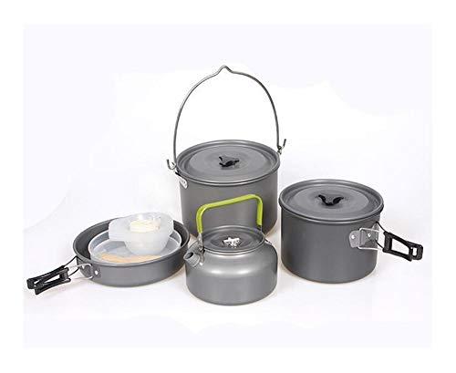 Bowl ZHUXINYU 5-7 Persona Camping al Aire Libre Juego de Utensilios de Picnic cuen- Pan Pot Set DS700 9.3