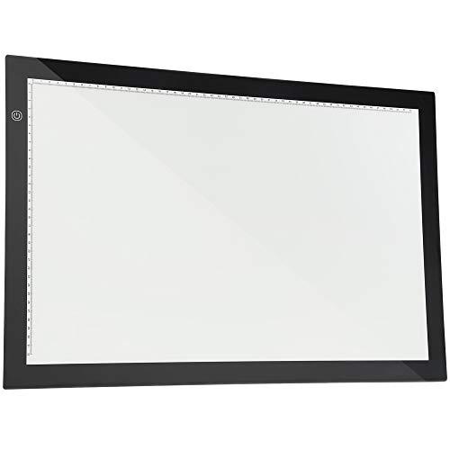 TOPQSC Smart Touch LED Mesa de copia A2 Con Atenuación De Tres Velocidades, Brillo De Atenuación Continuo Ultrafino, Tablero De Caja De Luz De Dibujo LED, Perfecto Para Dibujo/Animación 2D/Caligrafía