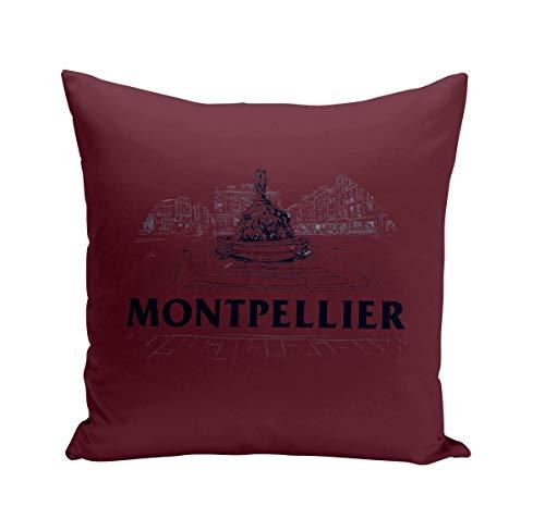 Coussin 40x40 cm Montpellier Minimalist Ville France Sud Patrimoine