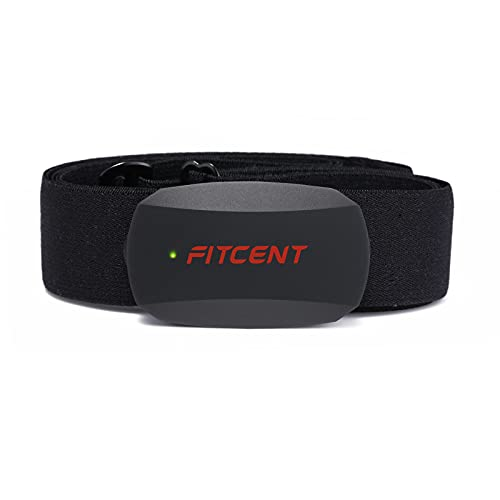 FITCENT Heart Rate Monitor Chest Strap, Bluetooth ANT+ HR Sensor for Peloton Polar Wahoo Zwift DDP Yoga Map My Ride Garmin Sports Watches