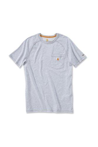 Carhartt Carhartt Force® Cotton Short Sleeve T-Shirt Baumwolle mit Brusttasche 100410 (XXL, grau)