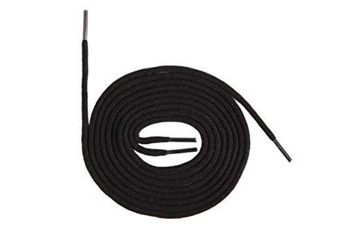 Rundsenkel dünn Schnürsenkel rund Schuhband Schuhsenkel Baumwolle 2,5mm z2222(150 cm,schwarz)
