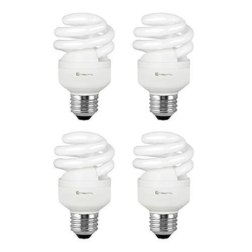 Compact Fluorescent Light Bulb T2 Spiral CFL, 2700k Soft White, 9W (40 Watt Equivalent), 540 Lumens, E26 Medium Base, 120V, UL Listed (Pack of 4)