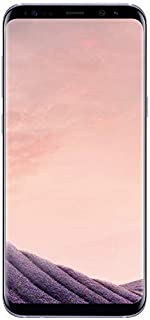 Samsung Galaxy S8 G950U 64GB Unlocked GSM U.S. Version Phone - w/ 12MP Camera - Orchid Gray (Renewed)