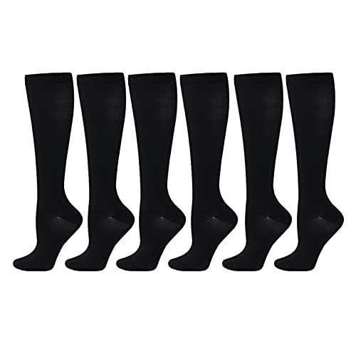 AUTUUCKEE 3 pares de calcetines de compresión al aire libre del embarazo del calentador del pie del deporte para correr
