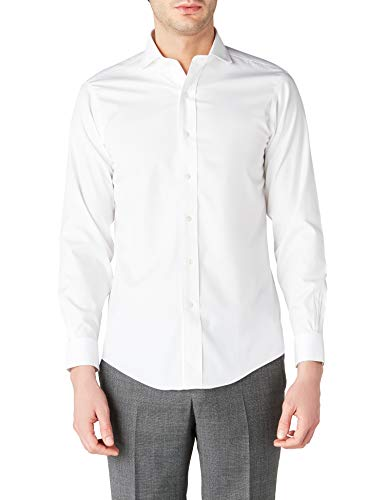 Brooks Brothers Herren Dress Non-Iron Londoner Milano Hemden, weiß (White 62), 43 (Hals in. 17 ärmel in. 36)