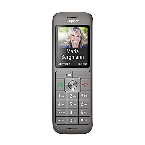 Gigaset CL660HX - DECT-Telefon schnurlos für Router - Fritzbox, Speedport kompatibel – hochwertiges Mobilteil mit Ladeschale, Anthrazit-metallic