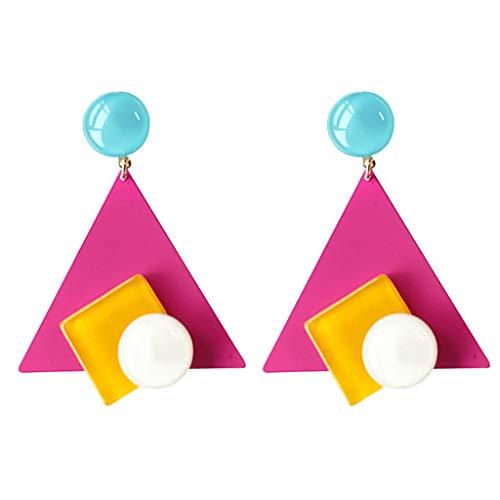 Pendientes geométricos coloridos del gota del triángulo del metal para el bulo D del partido del día