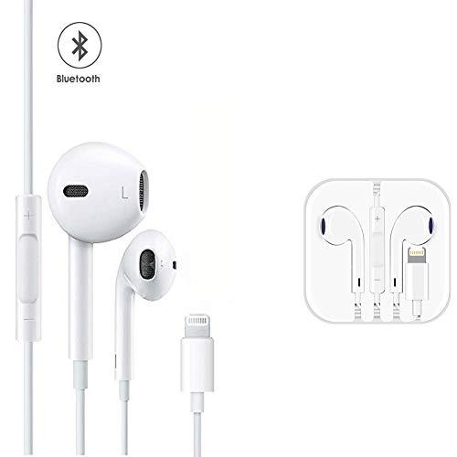 Cuffie con Telecomando e Microfono Auricolare Cuffie Stereo per iPhone X/XS/XS Max/XR iPhone 8/P...