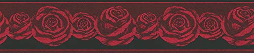 A.S. Création Bordüre Only Borders 10 Borte 5,00 m x 0,13 m rot schwarz Made in Germany 368621 36862-1