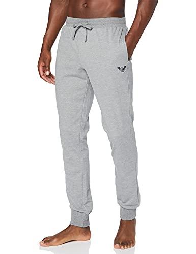Emporio Armani Underwear Trousers All Over Logo Terry Pantalón Deporte, Gris, M para Hombre