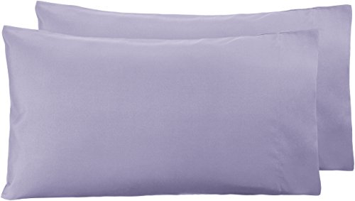 Amazon Basics - Funda de almohada de microfibra, 2 unidades, 50 x 80 cm - Lavanda