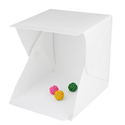 "Meegol LED Light box Studio with Folding portable photo photography , White & Black background photo Shooting , 9"" x 8.9"" x 9.5"""