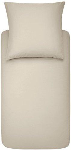 Amazon Basics Parure de lit avec housse de couette en microfibre, Beige, 140 x 200 cm