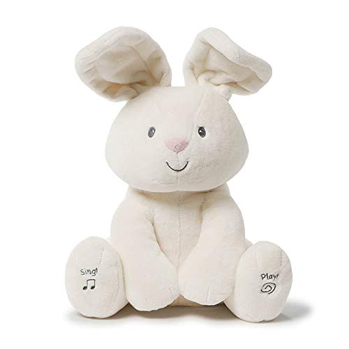 Baby GUND Flora The Bunny Animated Plush Stuffed Animal Toy, Cream, 12'